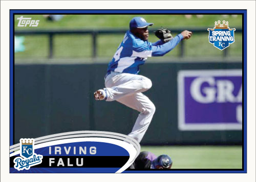 Irving Falu 2012 Topps Spring Training custom card