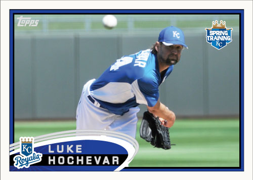 Luke Hochevar 2012 Topps Spring Training custom card