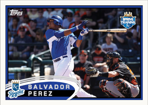 Salvador Perez 2012 Topps Spring Training custom card