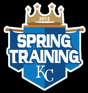 2012 Kansas City Royals Spring Training Logo for AHairOffSquare custom card set