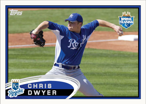 Chris Dwyer 2012 Spring Training custom card