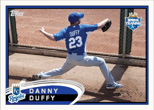 Danny Duffy 2012 Spring Training custom card