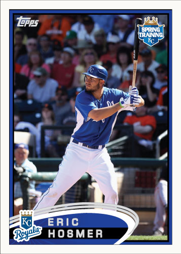 Eric Hosmer 2012 Spring Training Topps custom card
