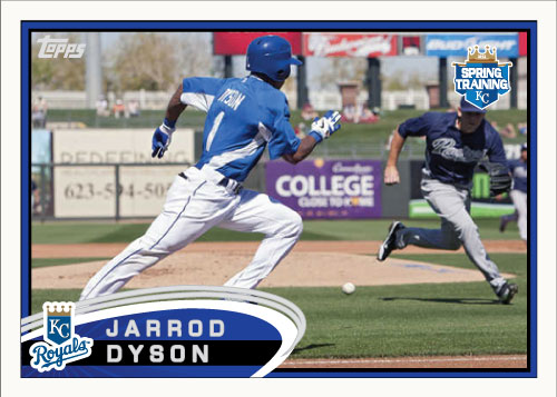 Jarrod Dyson 2012 Spring Training custom card