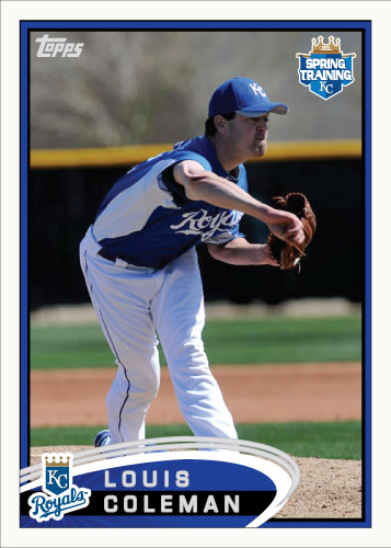 Louis Coleman 2012 Spring Training custom card