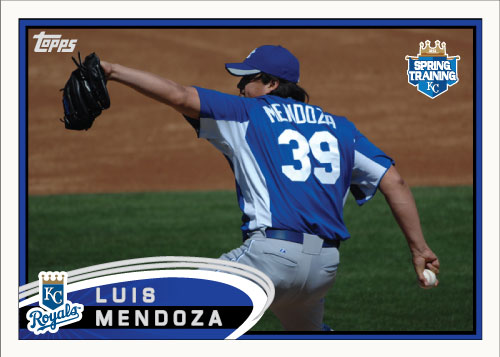 Luis Mendoza 2012 Spring Training custom card