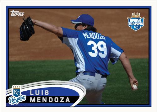 Luis Mendoza 2012 Spring Training custom card