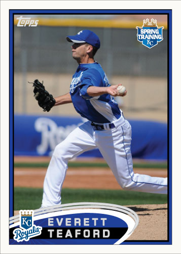 Everett Teaford 2012 Spring Training custom card