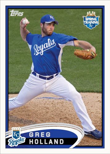 Greg Holland 2012 Spring Training custom card