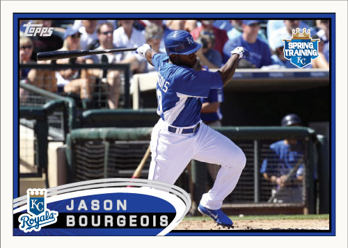 Jason Bourgeois 2012 Spring Training custom card