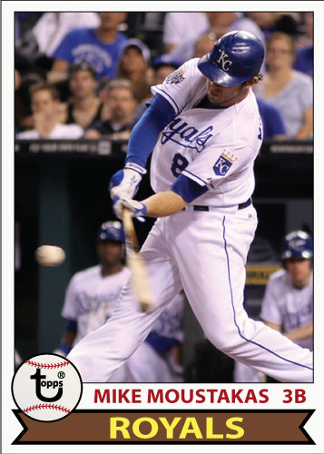 Mike Moustakas 1979 Topps custom card