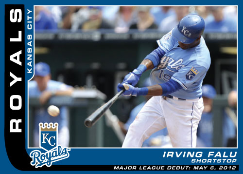 Major League Debut custom card Irving Falu