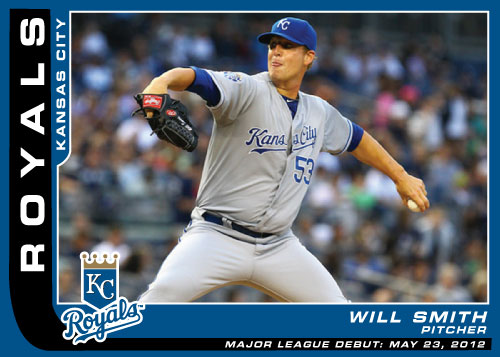Major League Debut custom card of Royals pitcher Will Smith