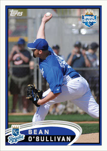Sean O'Sullivan 2012 Spring Training custom card