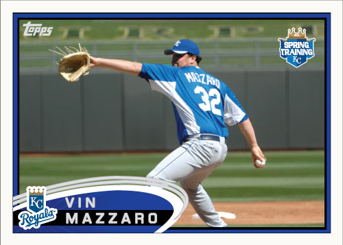 Vin Mazzaro 2012 Spring Training custom card