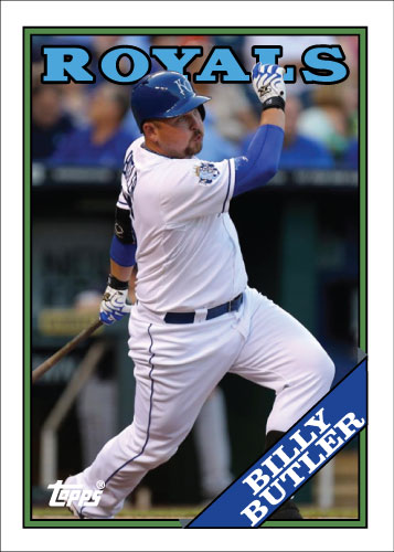 Billy Butler 1988 Topps custom card