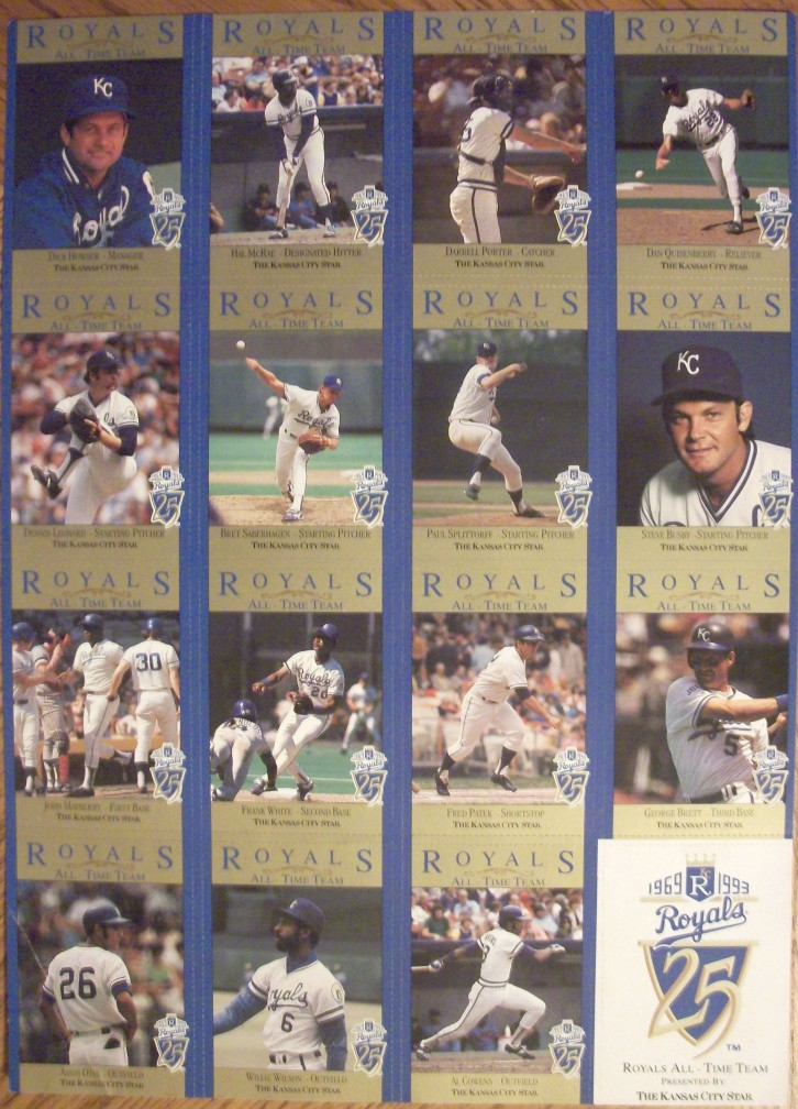 Kansas City Star All-Time Royals team card set