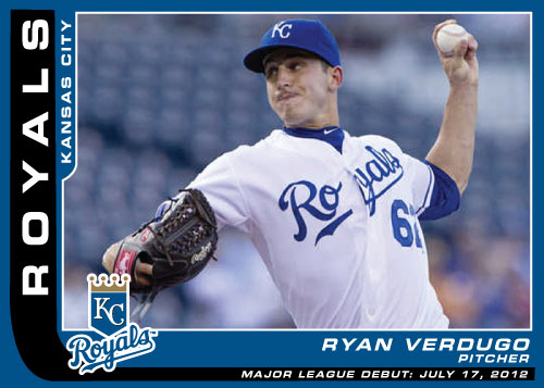 Major League Debut custom card Ryan Verdugo
