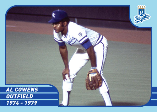 Royals Greats Al Cowens custom card