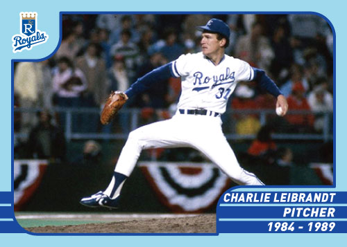 Royals Greats Charlie Leibrandt custom card