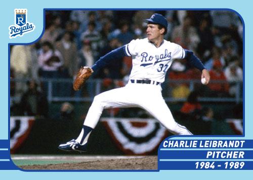 Royals Greats Charlie Leibrandt custom card