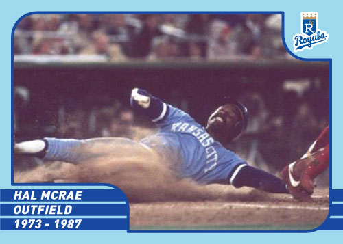 Royals Greats Hal McRae custom card