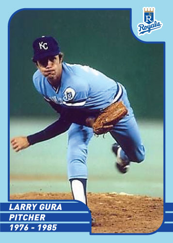 Royals Greats Larry Gura custom card