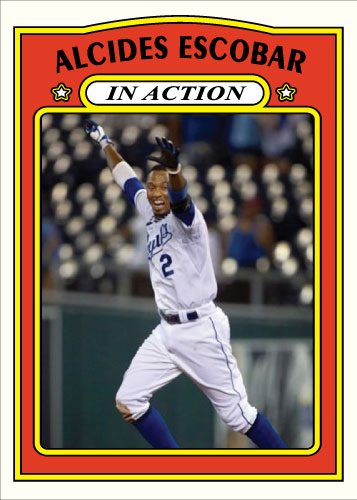 Alcides Escobar In Action 1972 Topps custom card