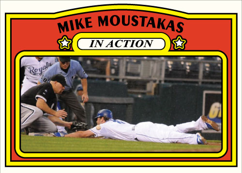 Mike Moustakas 1972 Topps In Action custom card