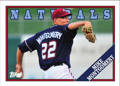 Naturals Mike Montgomery custom card