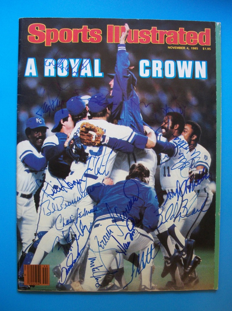 Autographed 1985 Royals championship Sports Illustrated: