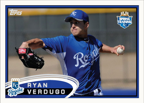 Ryan Verdugo 2012 Spring Training custom card