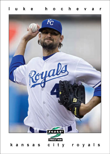Luke Hochevar 1997 Score custom card