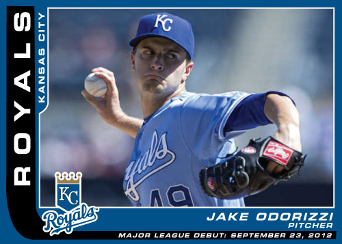 Major League Debut custom card of Royals pitcher Jake Odorizzi