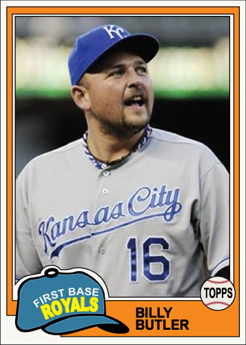 Billy Butler 1981 Topps custom card.