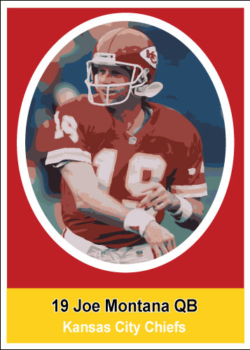 Joe Montana 1972 Sunco Stamps Custom Card