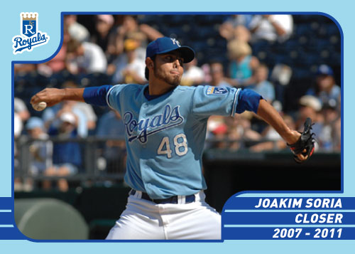 36 Greatest Royals: Joakim Soria custom card.