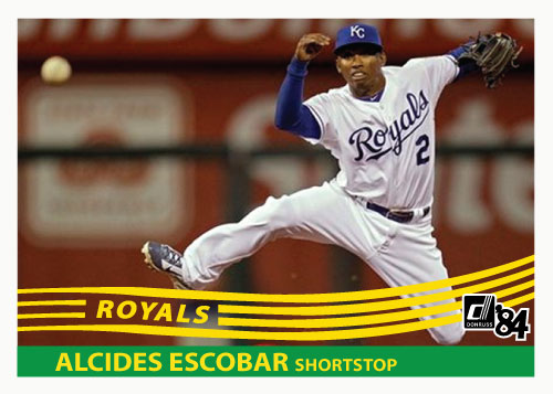1984 Donruss Alcides Escobar custom card