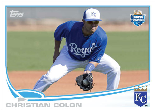 Christian Colon 2013 Topps Spring Training custom card
