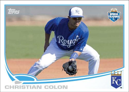 Christian Colon 2013 Topps Spring Training custom card