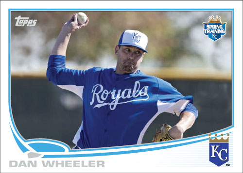 Dan Wheeler Royals spring training custom card