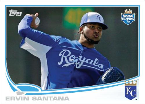 Ervin Santana 2013 Royals spring training custom card