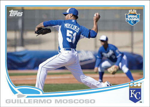 Guillermo Moscoso 2013 Royals spring training custom card