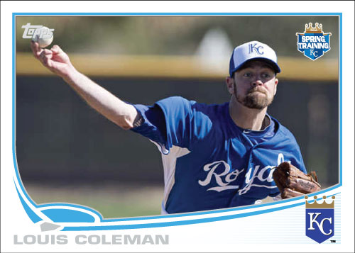 Louis Coleman 2013 Topps spring training custom card