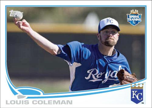 Louis Coleman 2013 Topps spring training custom card