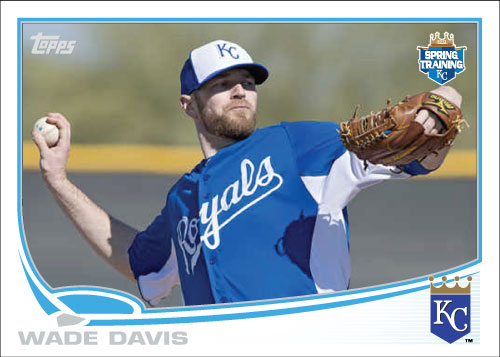 Wade Davis 2013 Topps Spring Training custom card
