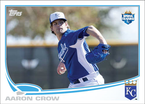 2013 Aaron Crow Royals Spring Training card