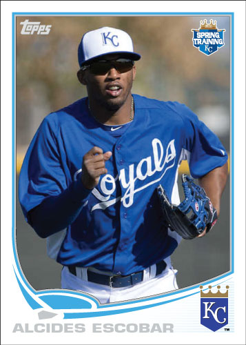 Alcides Escobar 2013 Royals spring training custom card.