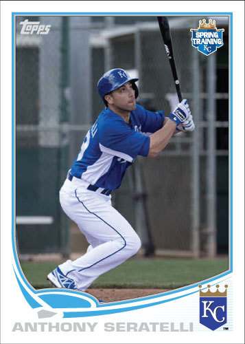 Anthony Seratelli 2013 spring training custom card.
