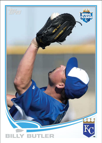 Billy Butler 2013 Spring Training custom card.